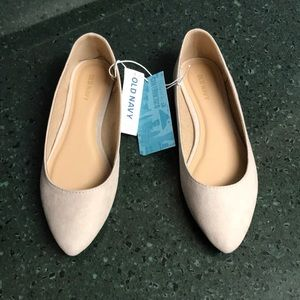 Brand New Old Navy cream colored flats